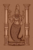 Vintage Statue of Indian Lord Matsya Sculpture Royalty Free Stock Image