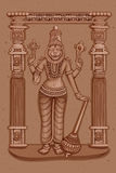 Vintage Statue of Indian Lord Narasimha Sculpture Stock Image