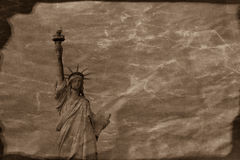 Vintage Statue of Liberty Stock Images