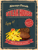 Vintage Steak House poster Stock Image