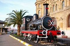 Vintage steam engine. Haydarpasa Train Station, Istanbul Stock Images