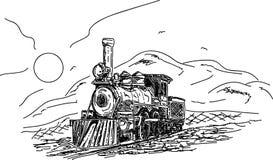 Vintage Steam engine stock illustration