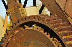 Vintage Steam Engine Gear. To Transfer Borax from Mines in Death Valley, California Royalty Free Stock Photography