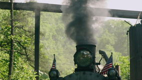 Vintage Steam Engine -Train 4k. Vintage Steam Engine -Train Locomotive stock footage