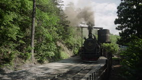 Vintage Steam Engine -Train 4k. Vintage Steam Engine Train in the park stock video