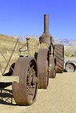 Vintage steam engine used in borax transport Stock Photography