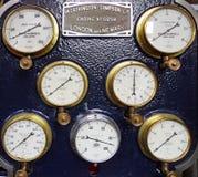 Vintage steam gauges Royalty Free Stock Images