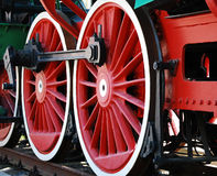 Vintage steam locomotive Stock Images
