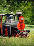 Vintage steam locomotive. In green nature royalty free stock photos