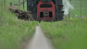 Vintage Steam Locomotive Approachin stock video