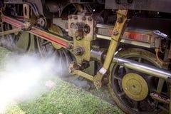 Vintage steam locomotive detail Stock Photos
