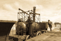 Vintage steam locomotive Stock Image