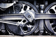 Vintage Steam Locomotive Engine Drive Wheel Grunge royalty free stock photography