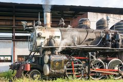 Vintage Steam Locomotive in Remedios,Cuba Stock Photography