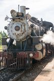 Vintage Steam Locomotive in Remedios,Cuba Stock Images