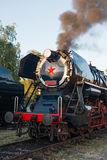Vintage steam locomotive Royalty Free Stock Images
