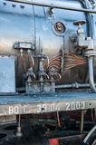Vintage Steam Locomotive at the station Royalty Free Stock Photo