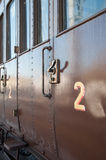 Vintage Steam Locomotive at the station Royalty Free Stock Photography