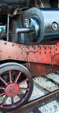 Vintage Steam Locomotive at the station Royalty Free Stock Photos