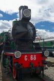 Vintage steam powered railway train Stock Photos