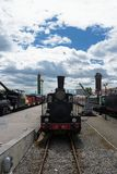 Vintage steam powered railway train Royalty Free Stock Images