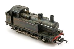 Vintage Steam shunter engine model Stock Image