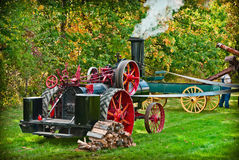 Vintage Steam Tractor Stock Photography