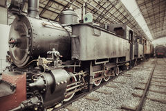 Vintage steam train Royalty Free Stock Photos
