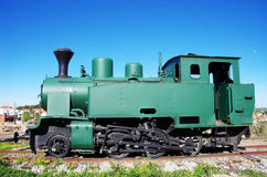 Vintage steam train in exposition Stock Image