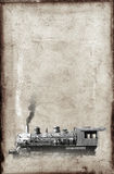 Vintage Steam Train Locomotive Background Paper Royalty Free Stock Image