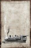 Vintage Steam Train Locomotive Background Paper royalty free stock image