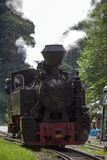 Vintage steam train locomotive - front view Stock Image