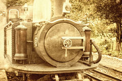 Vintage steam train. Looking photograph Royalty Free Stock Photography