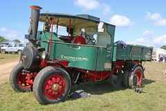 Vintage steam truck. In a field Stock Images