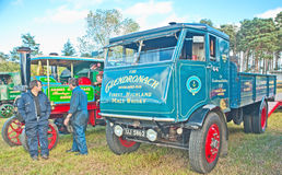 Vintage steam Whisky lorry Stock Photos