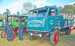 Vintage steam Whisky lorry Stock Photos