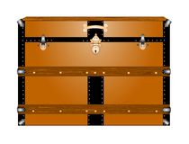 Vintage steamer trunk Stock Image
