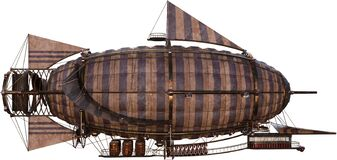 Free Vintage Steampunk Dirigible Airship, Isolated Stock Photography - 179233462