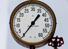 Vintage steampunk metal pressure gauge Stock Photos
