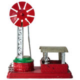 Vintage steel model of a farm windmill Stock Images