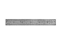 Vintage steel ruler Stock Image