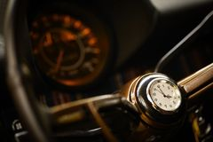 Vintage steering wheel Royalty Free Stock Images