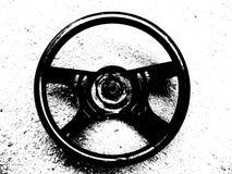 Vintage steering wheel of the car Stock Image