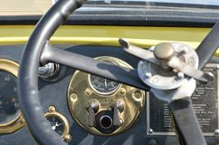 Vintage steering wheel Royalty Free Stock Photography