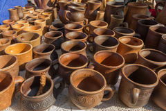 Vintage steins and pitchers Stock Photography