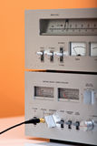 Vintage Stereo Amplifier and Tuner Stock Photos
