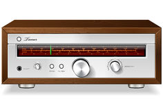 Free Vintage Stereo Analog Radio Tuner In Wooden Case V Royalty Free Stock Photo - 30459805