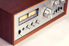 Vintage Stereo Audio Amplifier Stock Photography