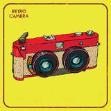 Vintage stereo camera Stock Photos