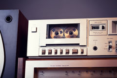Vintage stereo cassette tape deck player recorder Stock Photo
